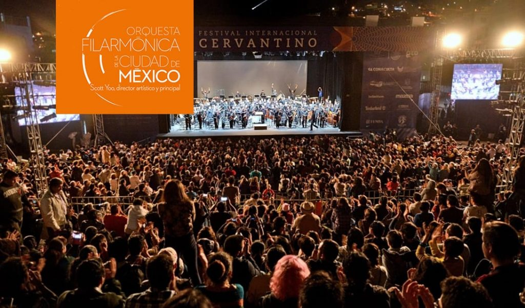 Mexico City Philharmonic at the Cervantino Festival poster